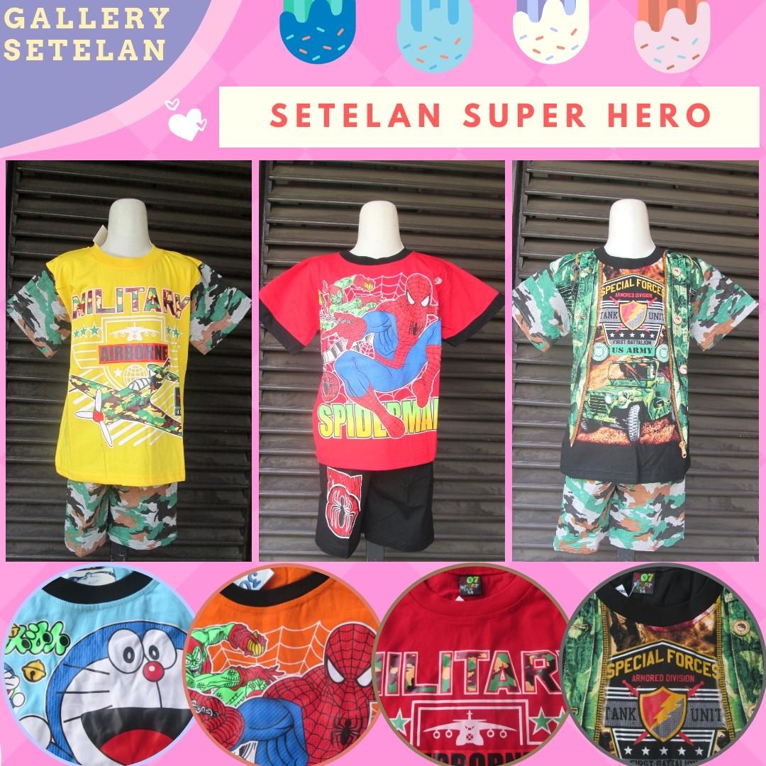 GROSIR PAKAIAN MURAH ONLINE DI BANDUNG Sentra Grosir Setelan Super Hero Anak Laki Laki Terbaru Murah Mulai 23Ribu