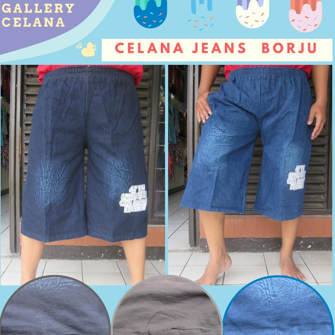 GROSIR PAKAIAN MURAH ONLINE DI BANDUNG Konveksi Celana Jeans Borju Pria Dewasa Termurah di Bandung 22Ribu