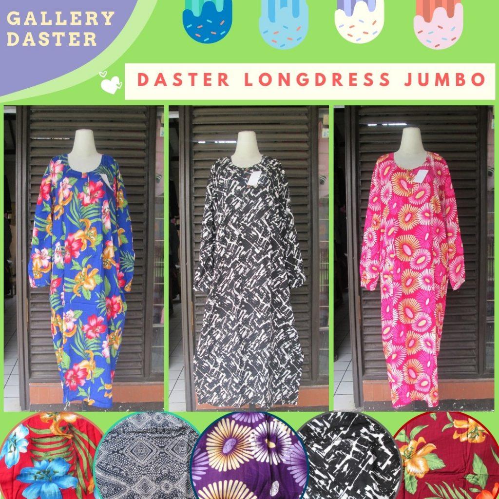 GROSIR PAKAIAN MURAH ONLINE DI BANDUNG Produsen Daster Longdress Jumbo Wanita Dewasa Murah di Bandung Rp.37.500