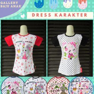 Supplier Dress Karakter Anak Perempuan Murah di Bandung