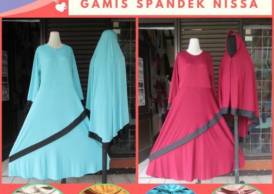Grosiran Murah di Bandung Produsen Gamis Spandek Nissa Dewasa Syar'i Murah di Bandung 88Ribuan
