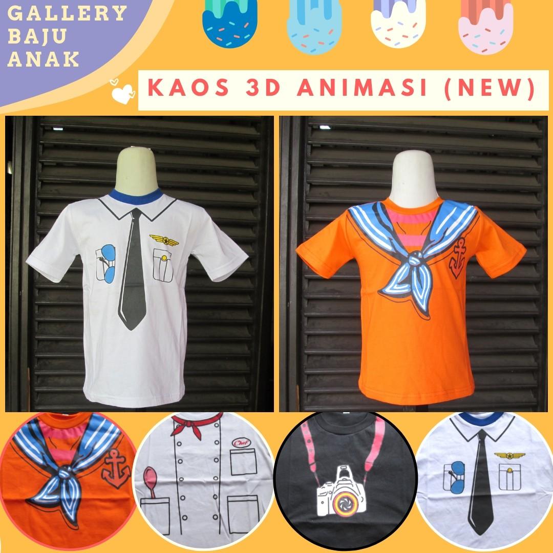 GROSIR PAKAIAN MURAH ONLINE DI BANDUNG Produsen Kaos 3D Profesi Anak Terbaru Murah di Bandung 16Ribuan