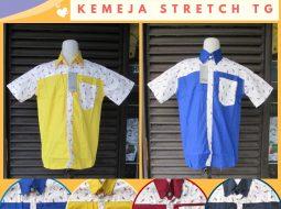 Grosiran Murah di Bandung Supplier Kemeja Streatch Anak Tanggung Murah di Bandung 28Ribuan