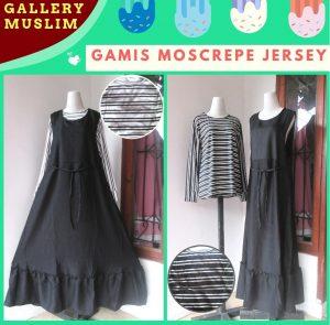 Distributor Gamis Moscrepe Jersey Dewasa Murah di Bandung