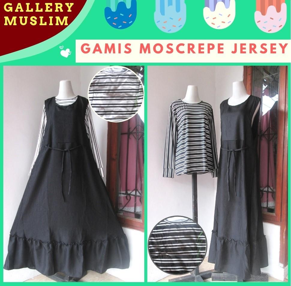 GROSIR PAKAIAN MURAH ONLINE DI BANDUNG Supplier Gamis Moscrepe Jersey Dewasa Model Terbaru Murah di Bandung 83Ribuan