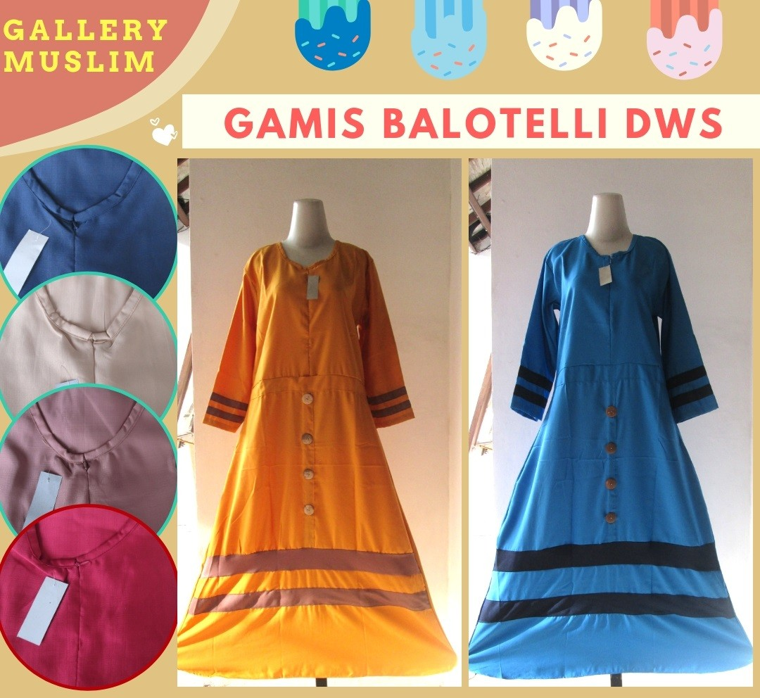 GROSIR PAKAIAN MURAH ONLINE DI BANDUNG Produsen Gamis Balotelli Wanita Dewasa Termurah di Bandung 52Ribuan