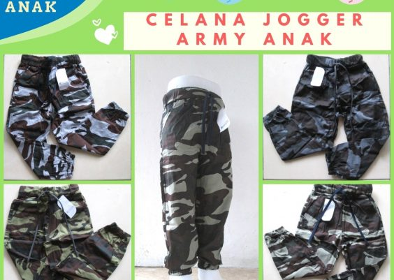Grosiran Murah di Bandung Produsen Celana Jogger Army Anak Terbaru Murah di Bandung Rp.17.500