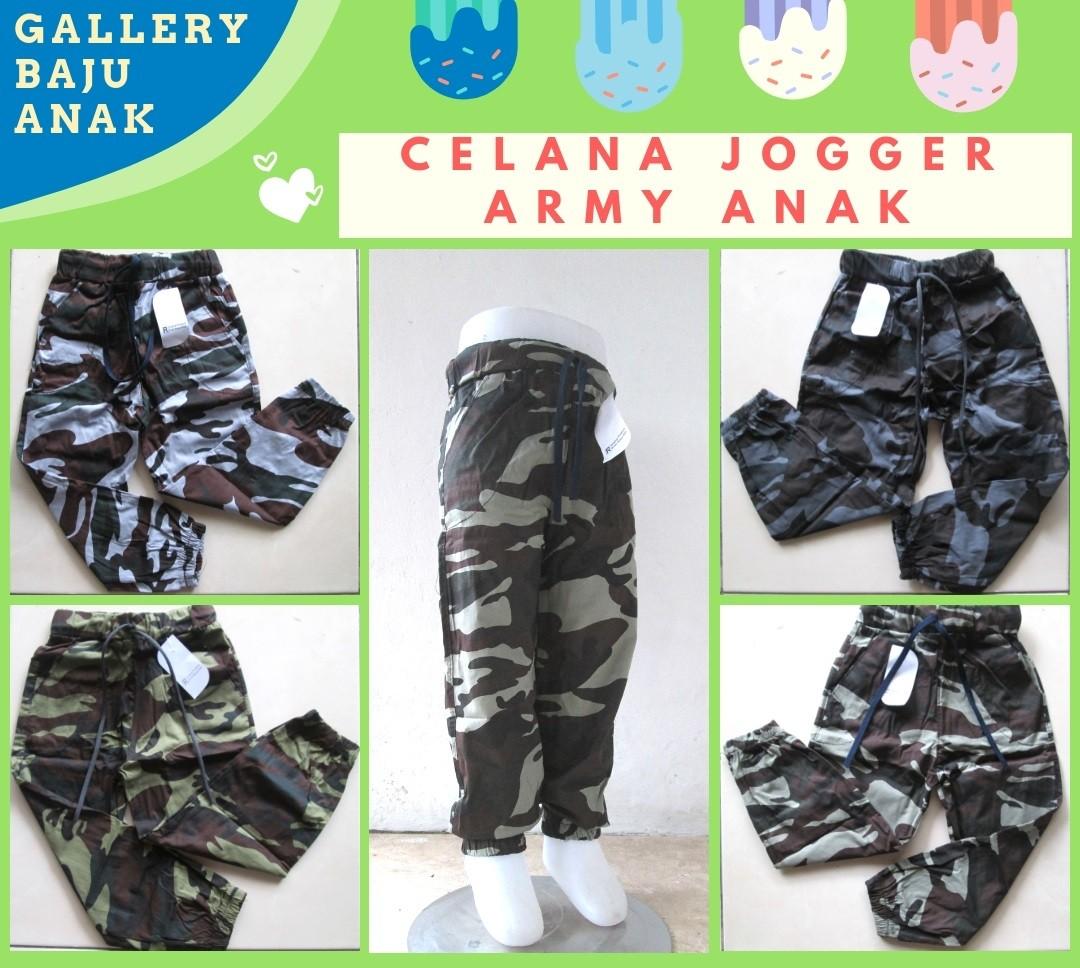 GROSIR PAKAIAN MURAH ONLINE DI BANDUNG Produsen Celana Jogger Army Anak Terbaru Murah di Bandung Rp.17.500