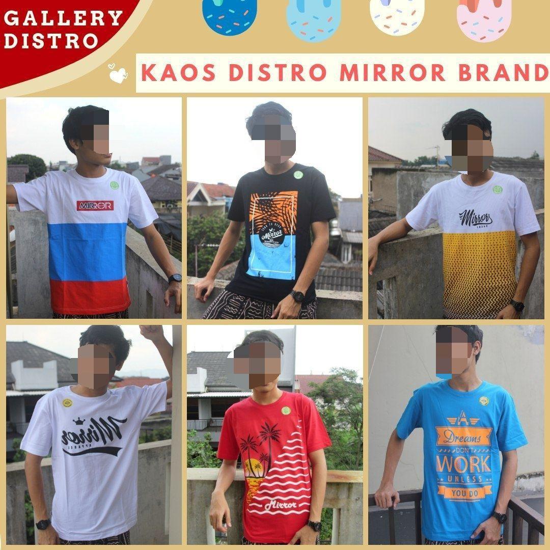 GROSIR PAKAIAN MURAH ONLINE DI BANDUNG Sentra Grosir Kaos Distro Surfing Mirror Brand Dewasa Terbaru MURRAAH di Bandung Mulai 36Ribuan
