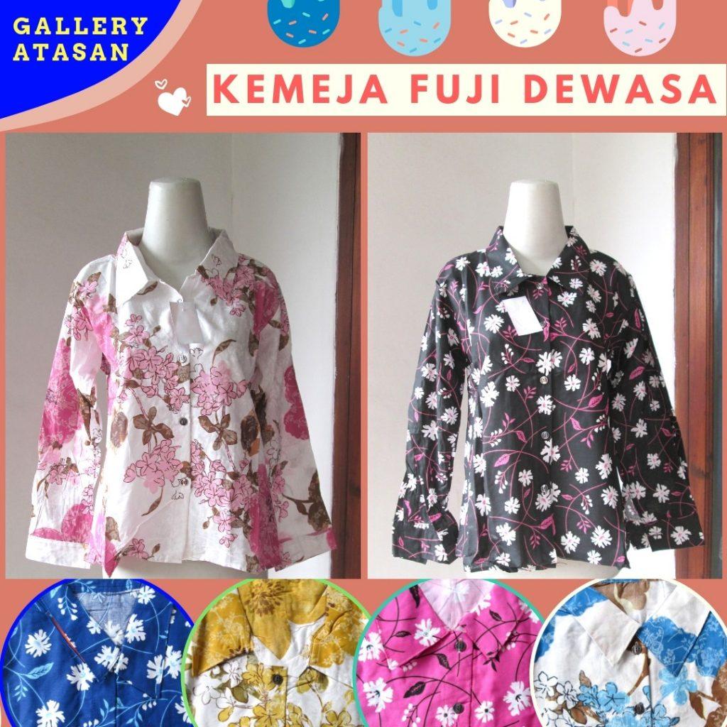 GROSIR PAKAIAN MURAH ONLINE DI BANDUNG Supplier Kemeja Fuji Wanita Dewasa Termurah di Bandung 30Ribuan