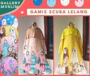 Distributor Gamis Scuba lelang Anak Perempuan Murah di Bandung