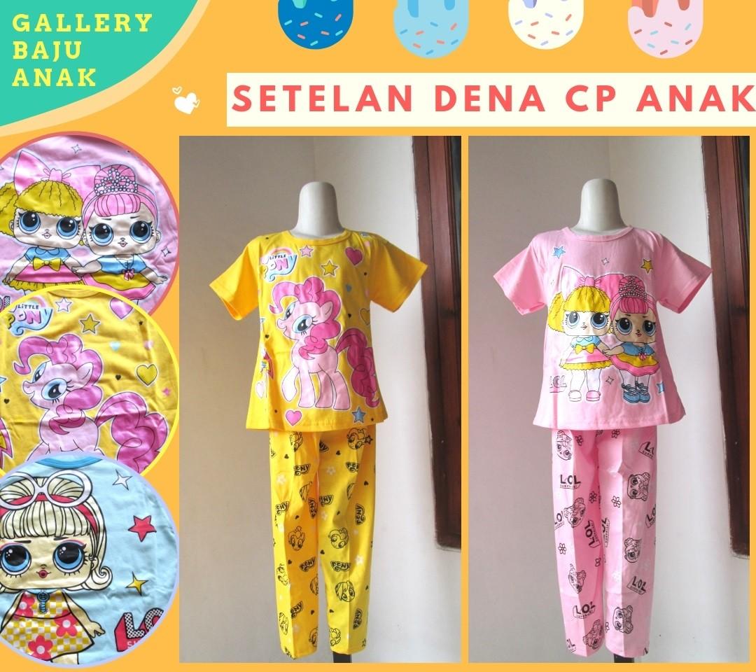 Grosiran Murah di Bandung Produsen Setelan Dena CP Anak Perempuan Karakter Murah di Bandung Mulai 21RIBUAN