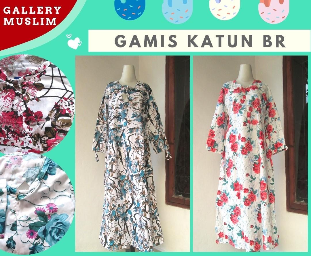 Grosiran Murah di Bandung Distributor Gamis Katun BR Dewasa Terbaru Murah di Bandung Only 55K
