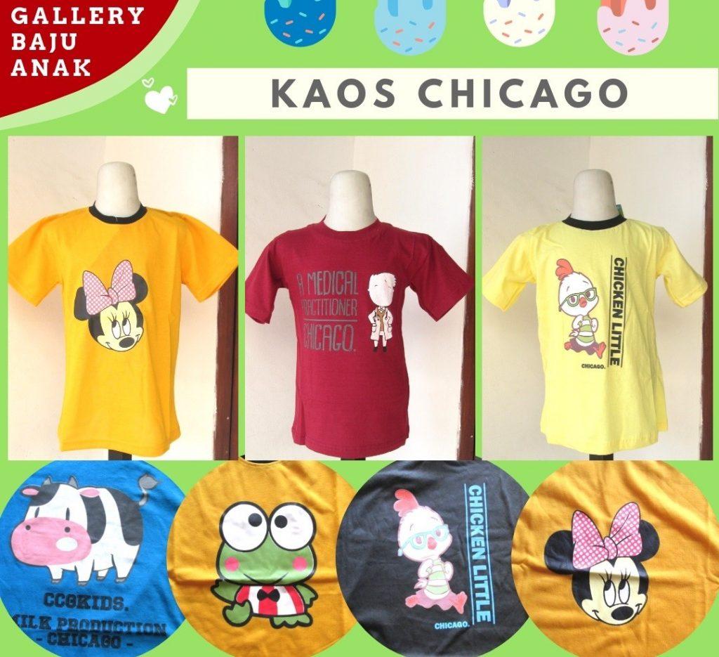 Grosiran Murah di Bandung Distributor Kaos Chicago Anak Karakter Termurah di Bandung Hanya 16RIBUAN