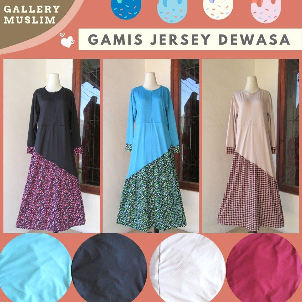 Grosiran Murah di Bandung Produsen Gamis Jersey Dewasa Termurah di Bandung Hanya 40RIBUAN