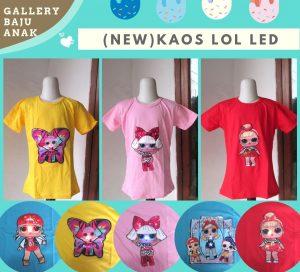 GROSIR PAKAIAN MURAH ONLINE DI BANDUNG Distributor Kaos LOL LED Anak Perempuan terbaru Murah di Bandung