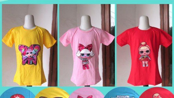 GROSIR PAKAIAN MURAH ONLINE DI BANDUNG Produsen Kaos LED Karakter LOL Anak Perempuan Murah di Bandung 29RIBUAN