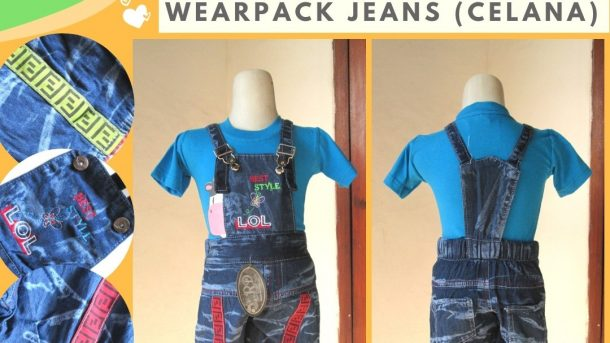 Grosiran Murah di Bandung Konveksi Wearpack Jeans Anak Terbaru Murah di Bandung Hanya 20RIBUAN