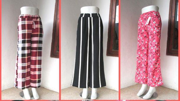 GROSIR PAKAIAN MURAH ONLINE DI BANDUNG Produsen Celana Kulot Crepe Motif Dewasa Terbaru Murah di Bandung 29Ribuan