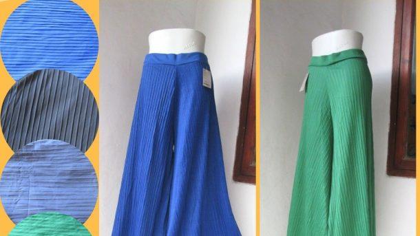 Grosiran Murah di Bandung Supplier Celana Kulot Plisket Wanita Dewasa Termurah di Bandung 30RIBUAN