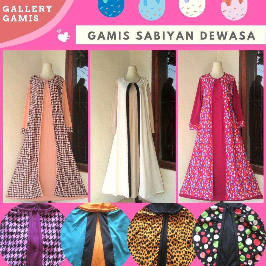 Grosiran Murah di Bandung Distributor Gamis Sabiyan Dewasa Termurah di Bandung Hanya 68Ribuan