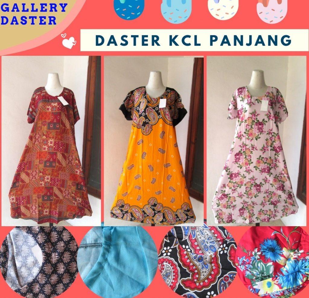 GROSIR PAKAIAN MURAH ONLINE DI BANDUNG Supplier Daster KCL Panjang Wanita Dewasa Termurah di Bandung Hanya Rp.33.500