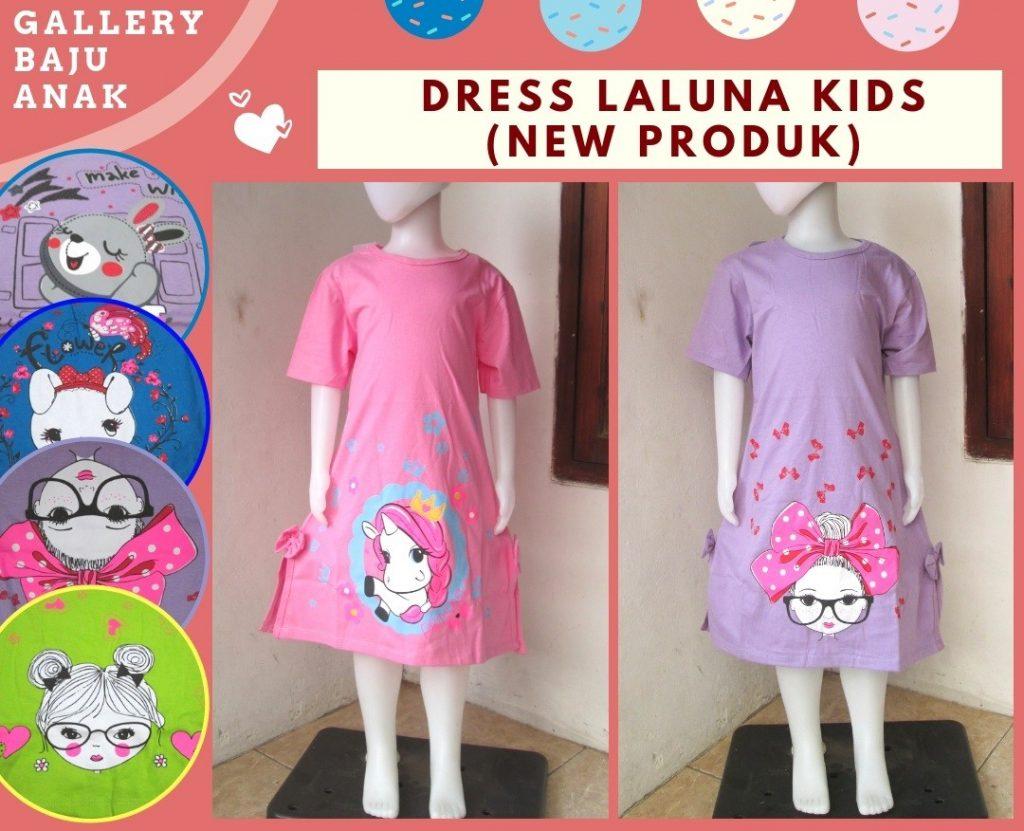 Grosiran Murah di Bandung Reseller Dress Laluna Anak Perempuan Terbaru Murah di Bandung Hanya 26RIBUAN!!!