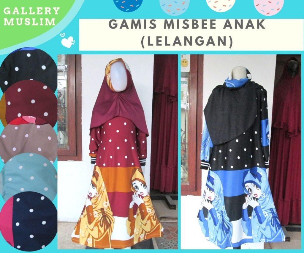 GROSIR PAKAIAN MURAH ONLINE DI BANDUNG Distributor Gamis Misbee Lelang Anak Perempuan Murah di Bandung Hanya 35RIBUAN