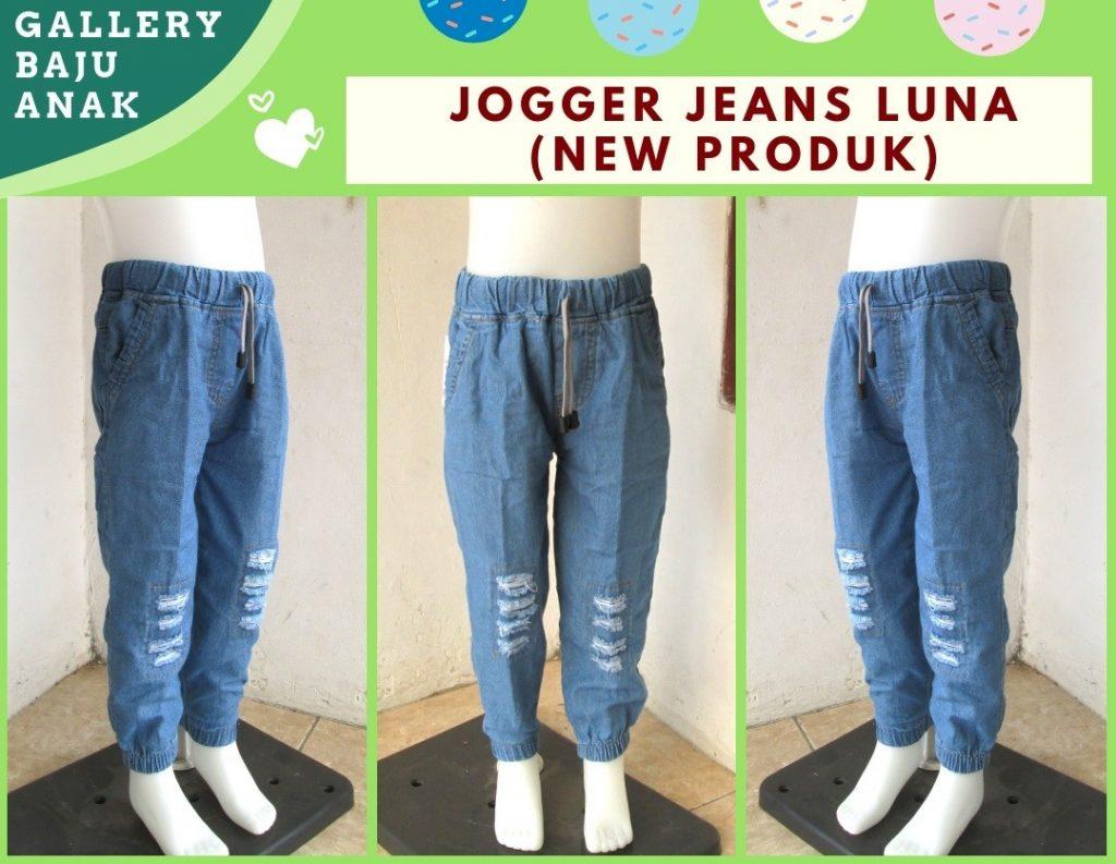 GROSIR PAKAIAN MURAH ONLINE DI BANDUNG Distributor Celana Jogger Jeans Luna Anak Tanggung Murah di Bandung Hanya 30RIBUAN