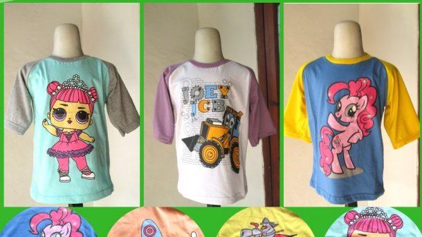Grosiran Murah di Bandung Supplier Kaos Distro Dujati DJR Anak Karakter Termurah di Bandung Hanya Rp.15.500
