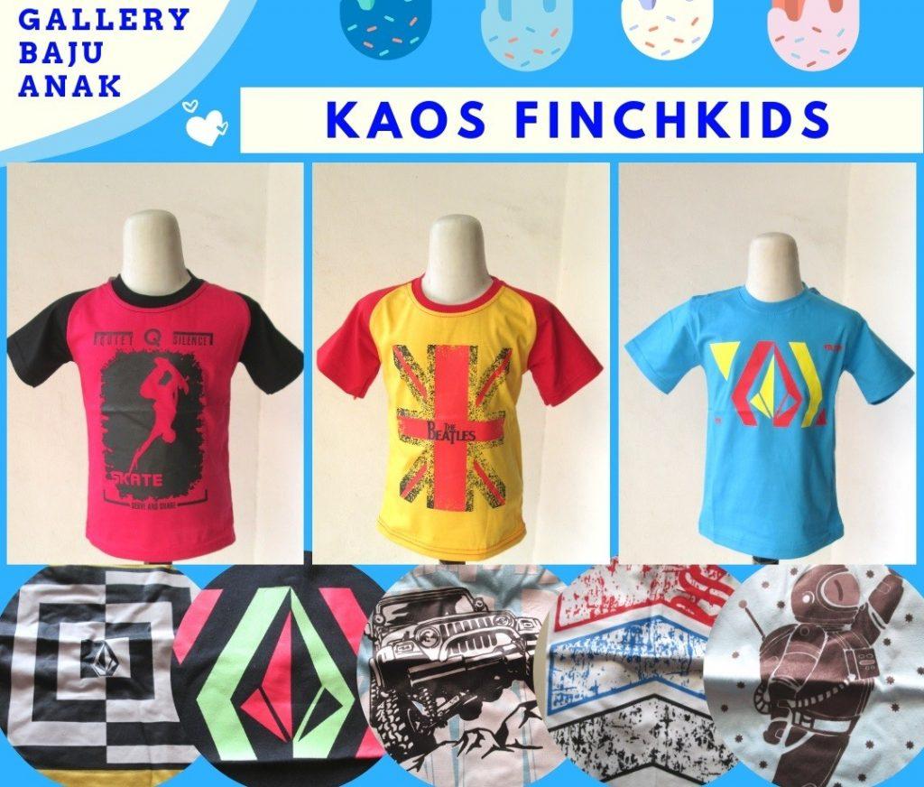 Grosiran Murah di Bandung Reseller Kaos FinchKids Anak Laki Laki Murah di Bandung Hanya 15RIBUAN