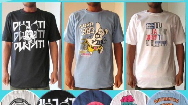 Grosiran Murah di Bandung Supplier Kaos Distro Dujati Casual Cotton Carded 30S TERMURAH di Bandung 27RIBUAN