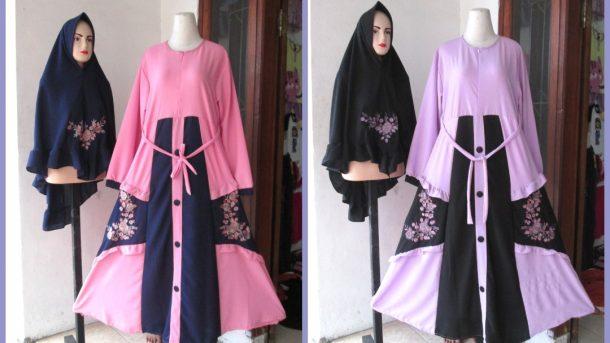 Grosiran Murah di Bandung Produsen Gamis Bubble Bordir Syar'i Wanita Dewasa Termurah di Bandung Hanya 120RIBUAN