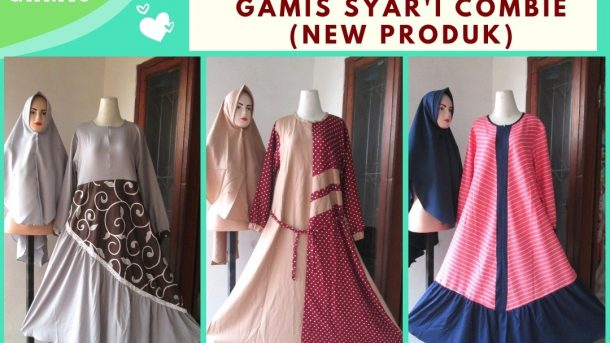 GROSIR PAKAIAN MURAH ONLINE DI BANDUNG Produsen Gamis Syar'i Combinasi Wanita Dewasa Termurah di Bandung 98RIBUAN