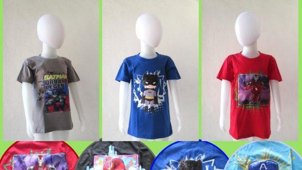 Grosiran Murah di Bandung Pusat Grosir Kaos LED Hero Anak Laki Laki Bisa Menyala Murah di Bandung Hanya 29RIBUAN