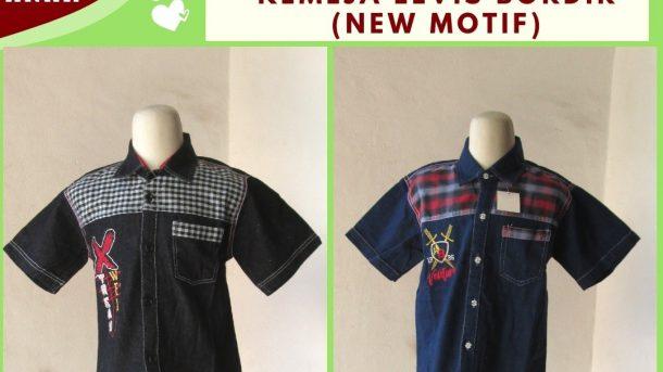 GROSIR PAKAIAN MURAH ONLINE DI BANDUNG Produsen Kemeja Levis Bordir Anak Terbaru Murah di Bandung Hanya Rp.28.500