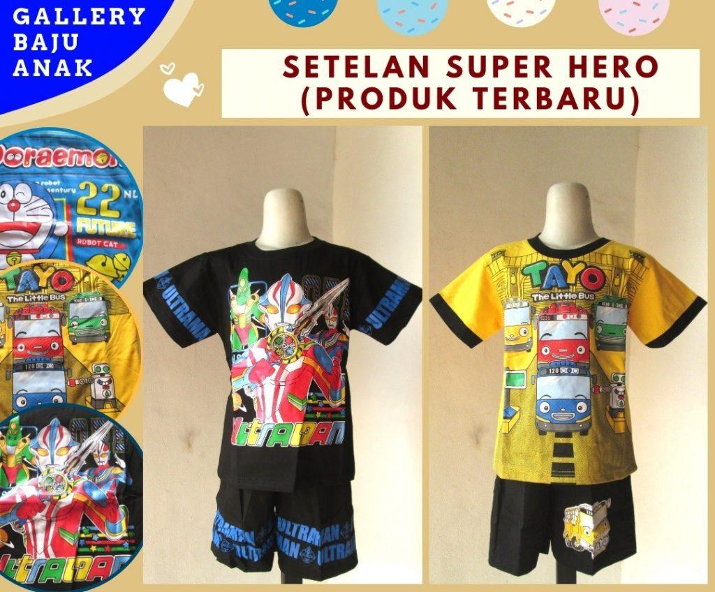 Grosiran Murah di Bandung Supplier Setelan Super Hero Anak Laki Laki Terbaru Murah di Bandung Mulai 23RIBUAN