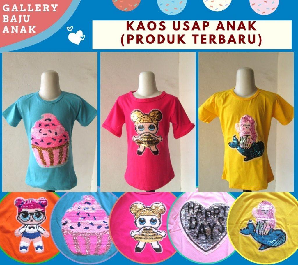 Grosiran Murah di Bandung Distributor Kaos Usap Anak Perempuan Murah di Bandung Hanya 28RIBUAN
