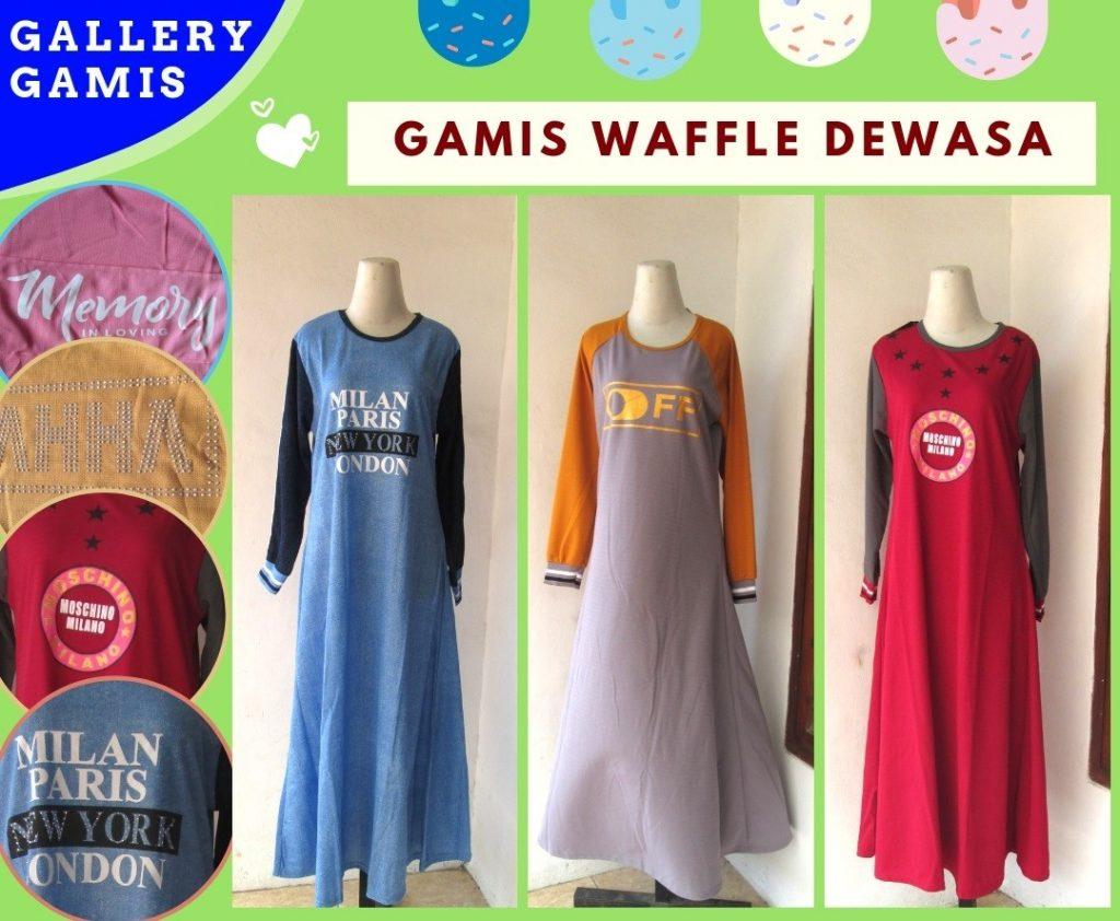 Grosiran Murah di Bandung Distributor Gamis Waffle Wanita Dewasa Terbaru Murah di Bandung 42RIBUAN