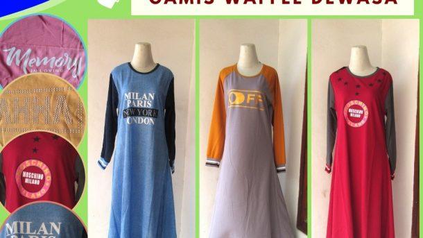 GROSIR PAKAIAN MURAH ONLINE DI BANDUNG Distributor Gamis Waffle Wanita Dewasa Terbaru Murah di Bandung 42RIBUAN