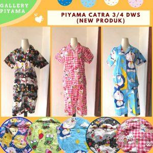 GROSIR PAKAIAN MURAH ONLINE DI BANDUNG Distributot Piyama Catra 3/4 Dewasa termurah  di Bandung