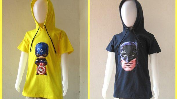 GROSIR PAKAIAN MURAH ONLINE DI BANDUNG Pabrik Kaos Hoodie LED Anak Laki Laki Karakter Bisa Menyala Murah Hanya 31RIBUAN