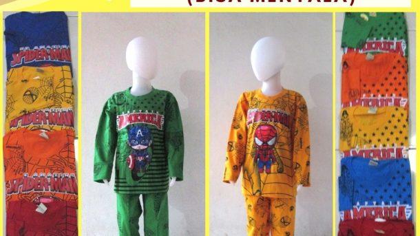 GROSIR PAKAIAN MURAH ONLINE DI BANDUNG Produsen Setelan Roin TP LED Anak Laki Laki Karakter Bisa Menyala Murah di Bandung Mulai 40RIBUAN