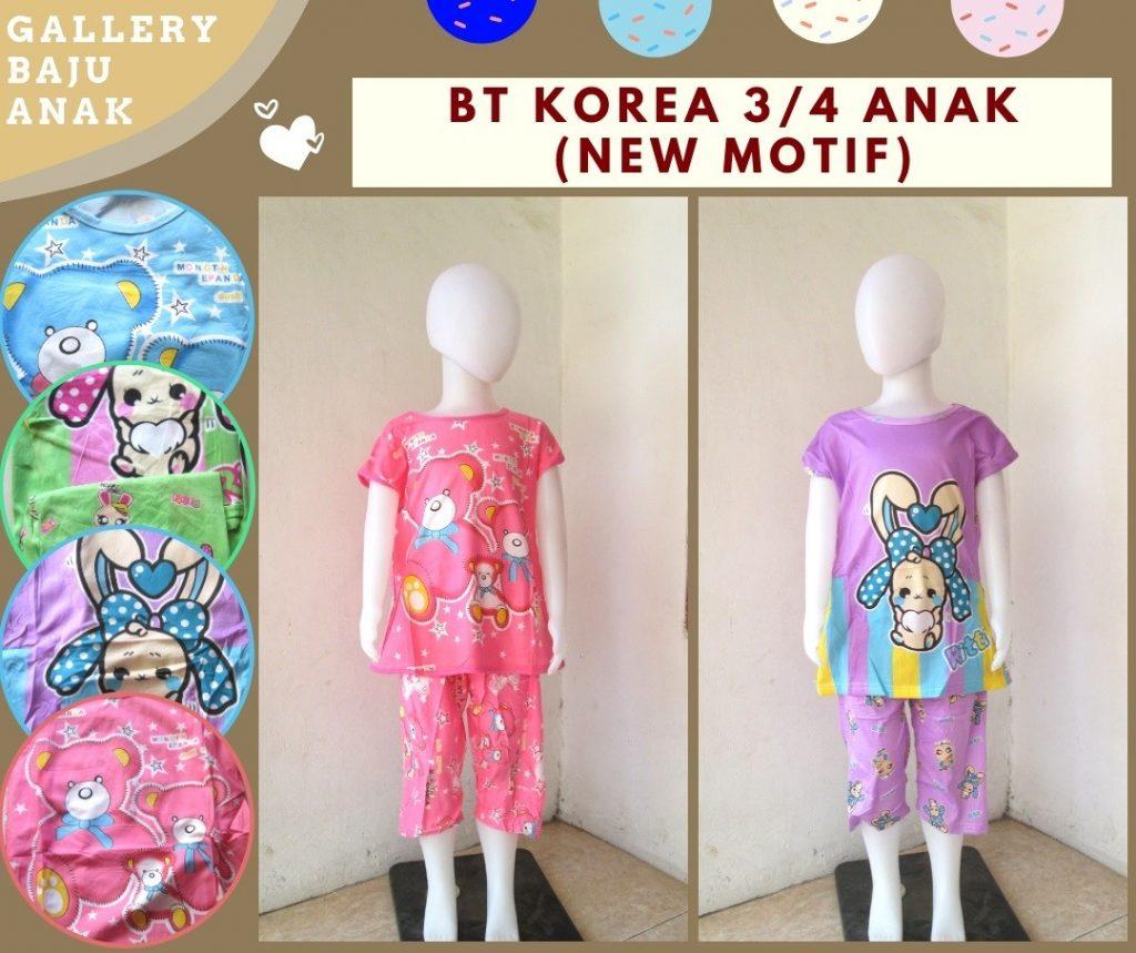 Grosiran Murah di Bandung Distributor Baju Tidur Korea 3/4 Anak Karakter Murah di Bandung 25RIBUAN