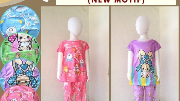 GROSIR PAKAIAN MURAH ONLINE DI BANDUNG Distributor Baju Tidur Korea 3/4 Anak Karakter Murah di Bandung 25RIBUAN