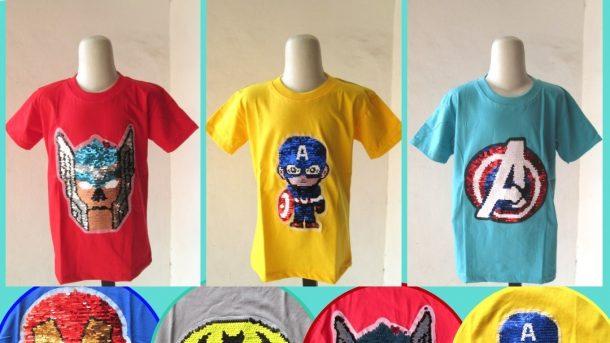 Grosiran Murah di Bandung Distributor Kaos Usap Anak Laki Laki Karakter Bisa Berubah Warna Murah di Bandung 28RIBUAN