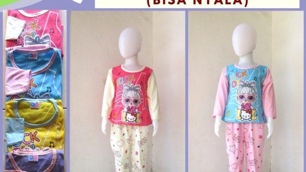 GROSIR PAKAIAN MURAH ONLINE DI BANDUNG Supplier Setelan Dena TP LED Karakter Anak Perempuan Murah di Bandung Mulai 32RIBUAN