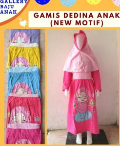 GROSIR PAKAIAN MURAH ONLINE DI BANDUNG Produsen Gamis Dedina Anak Perempuan Murah di Bandung