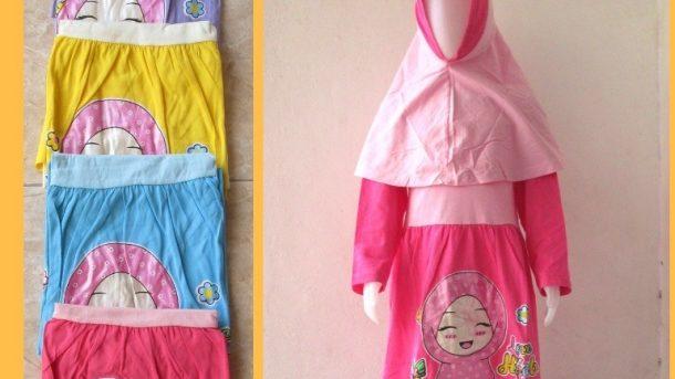 Grosiran Murah di Bandung Konveksi Gamis Dedina Anak Perempuan Karakter Terbaru Murah Mulai 35RIBUAN