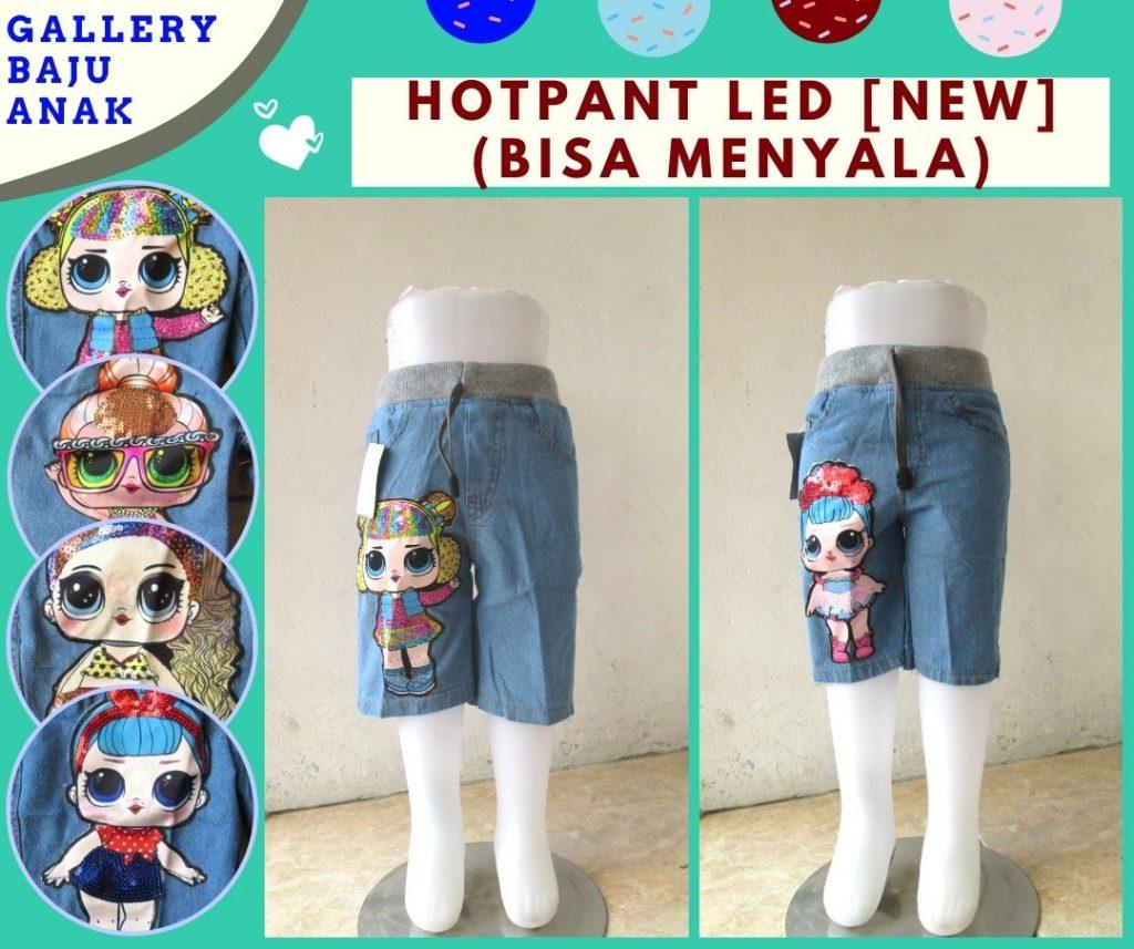 Grosiran Murah di Bandung Distributor Celana Hotpant Jeans LED Anak Bisa Menyala Terbaru Murah Hanya 38RIBUAN
